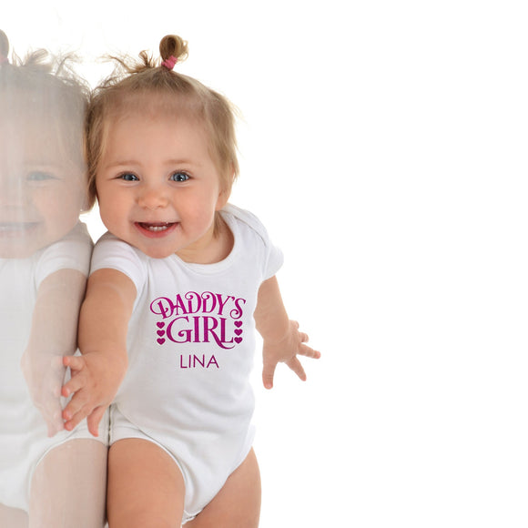 dady's girl baby onesie