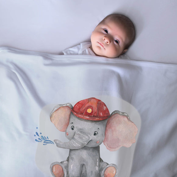 Personalized Baby Blanket- Elephant