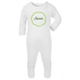 Personalised Baby Sleepsuit- Leaves - miniplum