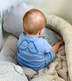 blue baby grow - baby boy gift