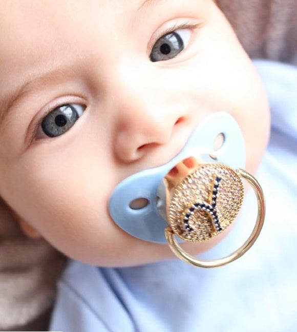 Personalized Monogram Glam Pacifier and Clip Set