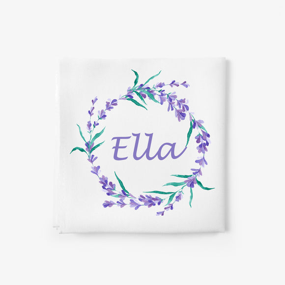 personalised floral baby blanket