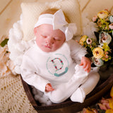 personalised baby clothes - personalised floral baby grow