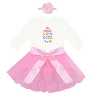 Personalised Baby clothes- Princess baby grow and tutu
