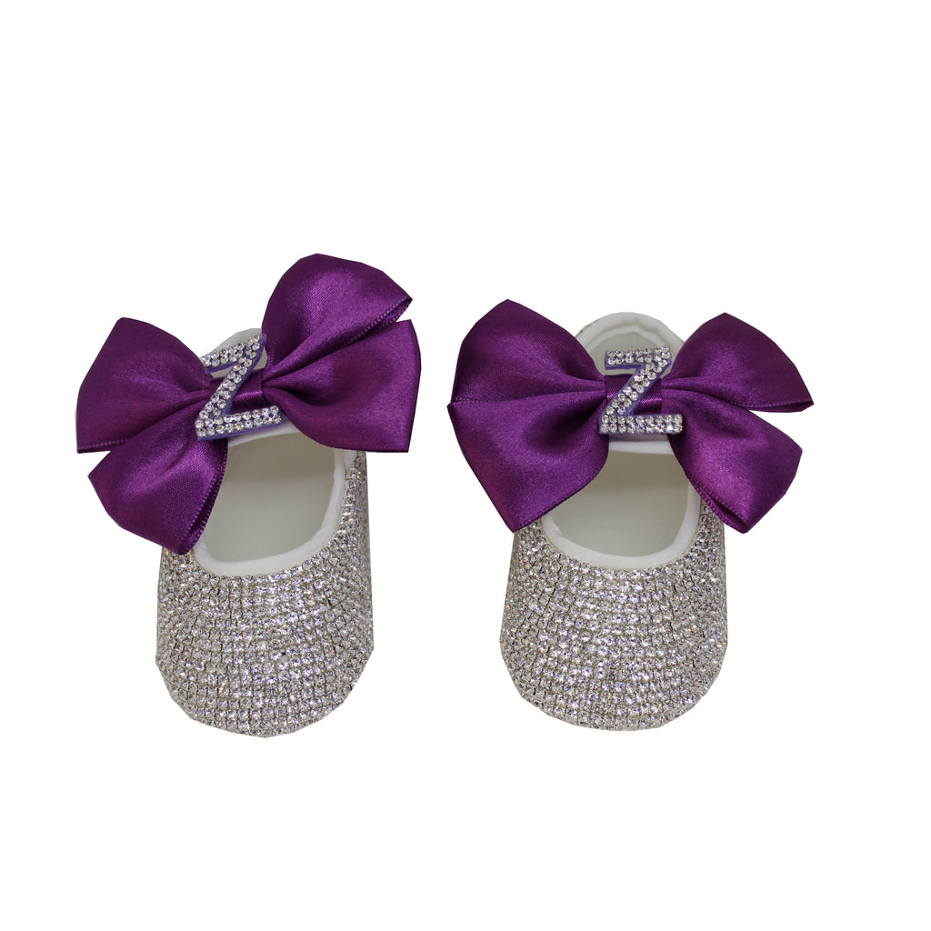 Personalised Baby Girls' Inital Shoes and Headband - miniplum
