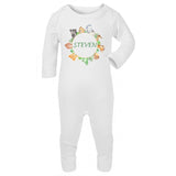 Personalised Baby Sleepsuit- Forest Animals