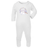 Personalised Baby Sleepsuit- Unicorn Kitty - miniplum