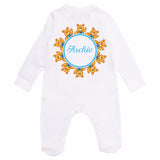 personalised baby grow with teddy bear
