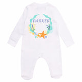 Personalised Baby Sleepsuit- Sea Star - miniplum