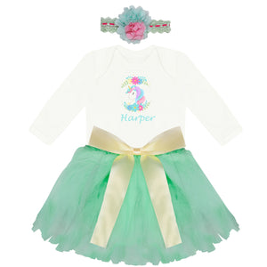 Personalised Baby clothes- baby girl gift with tutu