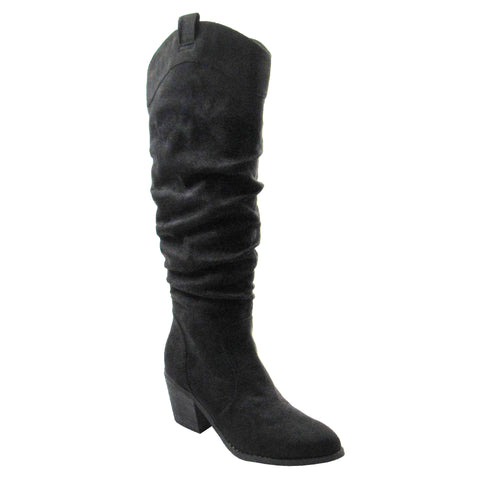 Bowen - Black with Leopard Trim Boot