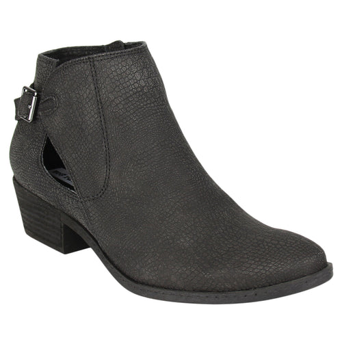 Not_Rated_bootie_stacked_heel_black_women's_Pricilla