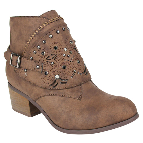 NOT_RATED-BOOTIE_STACKED-HEEL_EMBELLISHED_WOMEN'S_CHOCOLATE