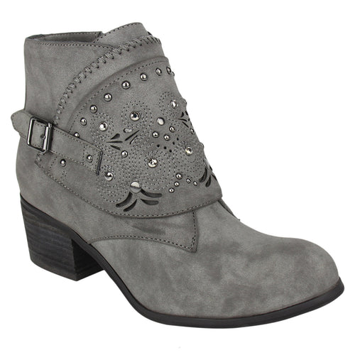not_rated_bootie_lazer-cut-outs_strap_2 inch_heel_wome's_grey