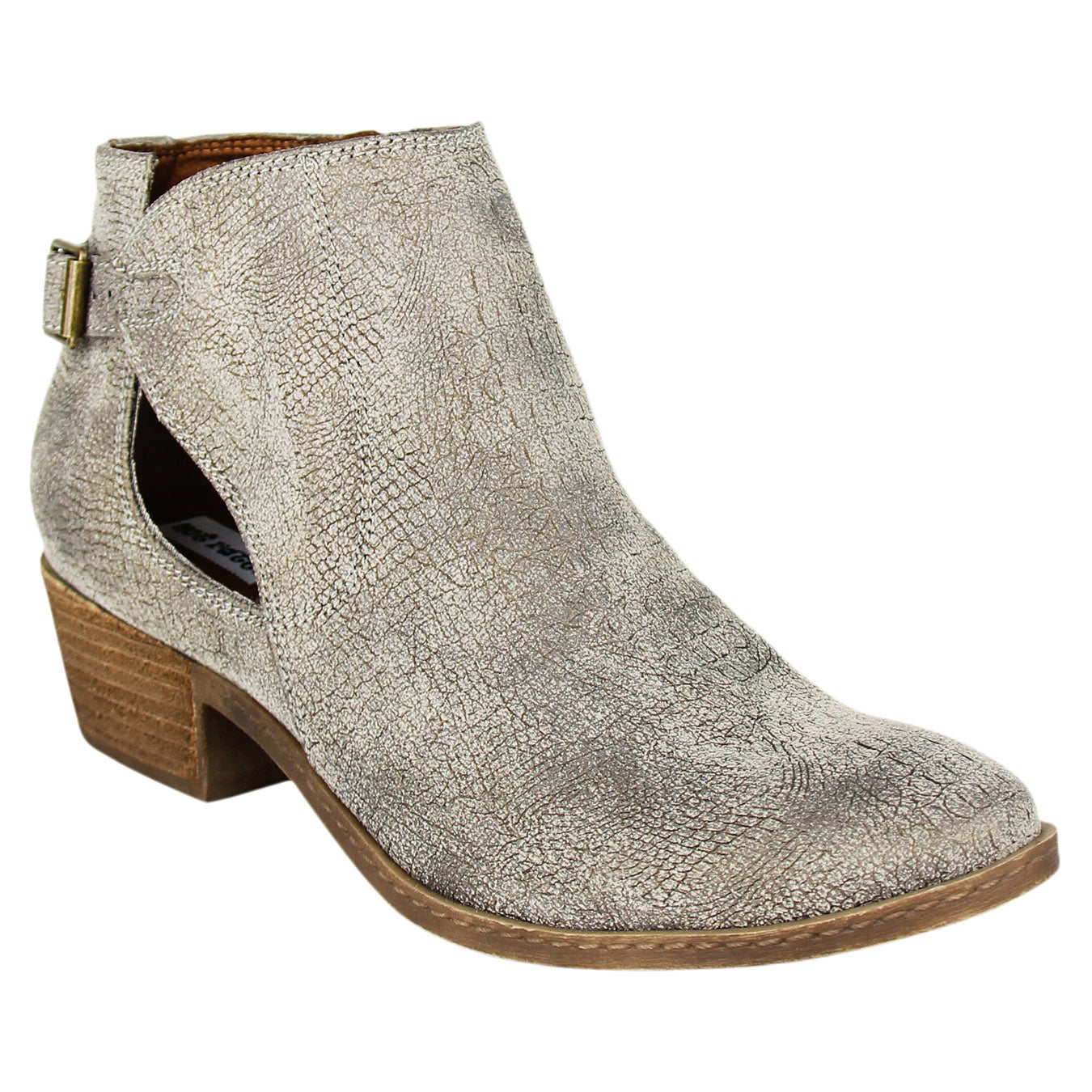 Not_Rated_bootie_stacked_heel_grey_women's_Pricilla