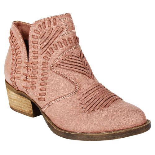 Not_Rated_booties_rose_stacked-heel_woven_upper_women's_best_seller