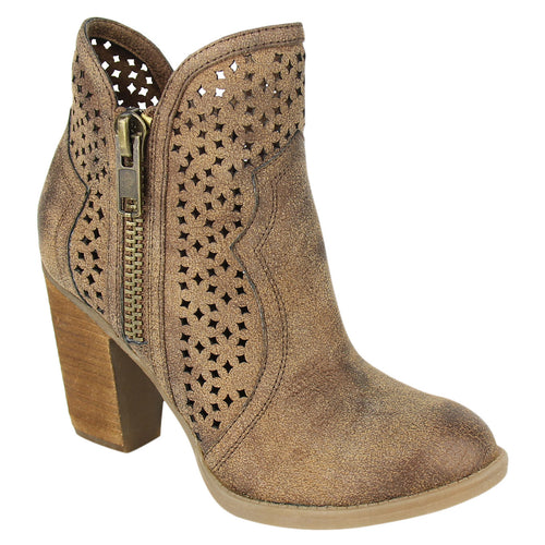 Not_Rated_bootie_tan_women's_heel_lazer_cut_out