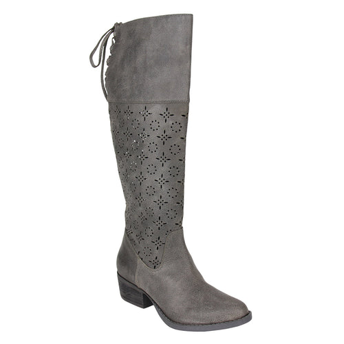 not_rated_tall_boot_1.5 inch heel_decorative_cut_outs_almond-shape_toe_women_charcoal