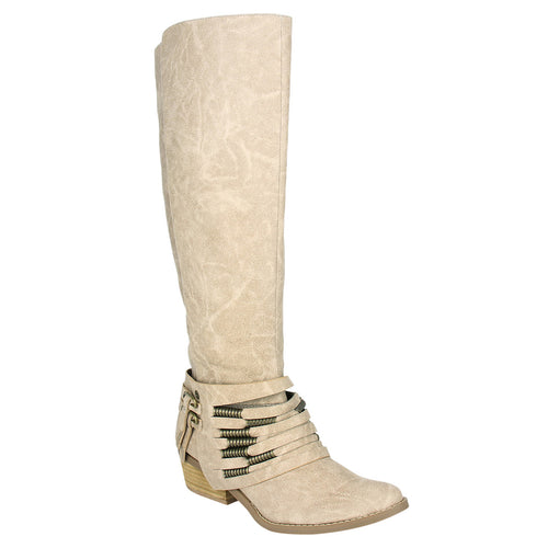 Not_Rated_Tall_Boot_stacked_heel_decorative_ankle_straps_women_cream