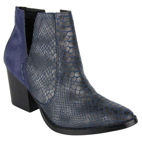 Not_Rated_bootie_textured-faux-leather_heel-3inches_women_navy