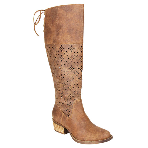 not_rated_tall_boot_1.5 inch heel_decorative_cut_outs_almond-shape_toe_women_Tan