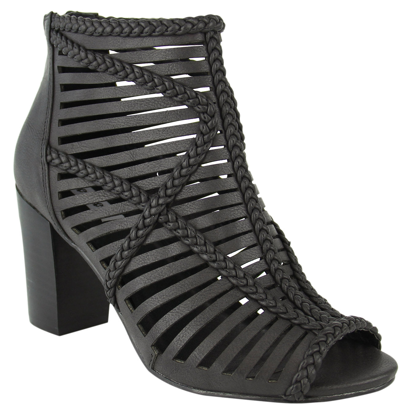 not_rated_casual_pump_stacked-heel_black_sandal_women_ caged-upper_zipper_spring_fashion