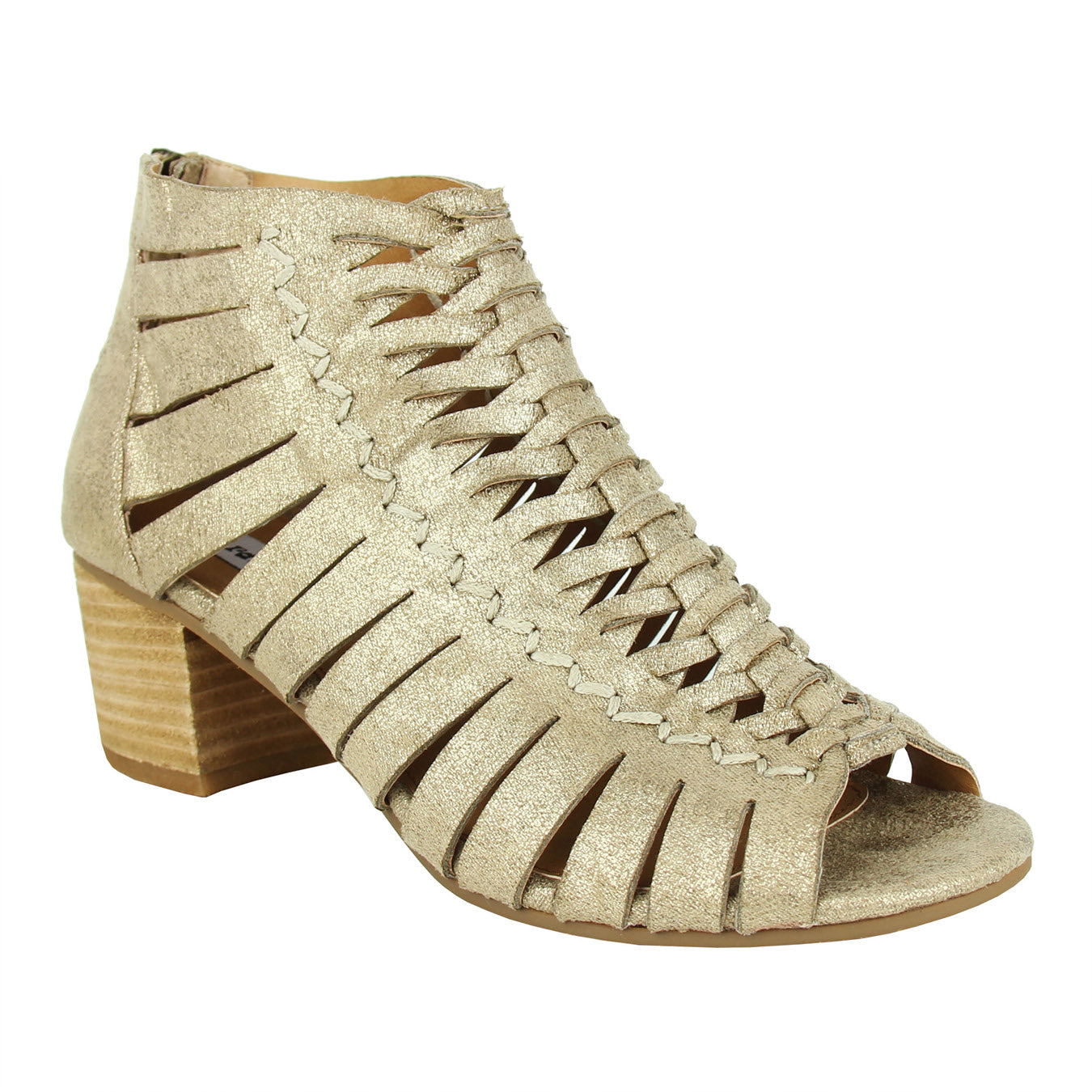 not_rated_pump_gold_heel_caged_shimmer_women