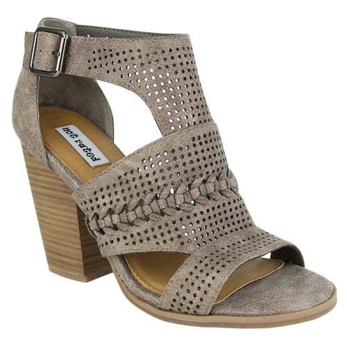 Not_Rated_Kira_women's_pump_perforated_stacked_heel_3.25 inches_grey
