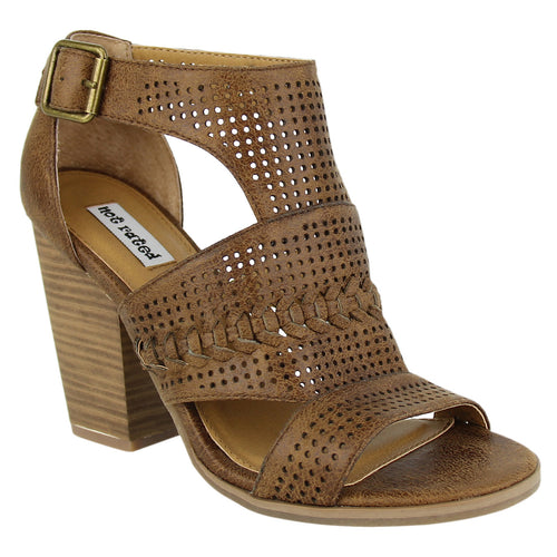 Not_Rated_Kira_women's_pump_perforated_stacked_heel_3.25 inches_tan