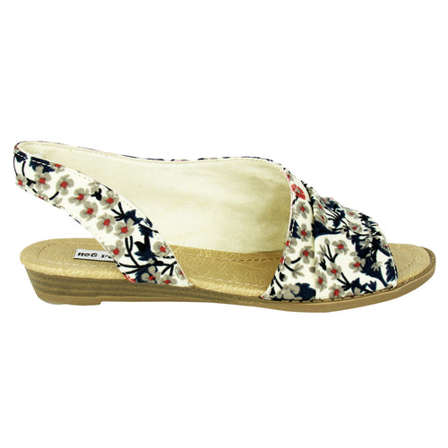 Shanna - Cream/Navy