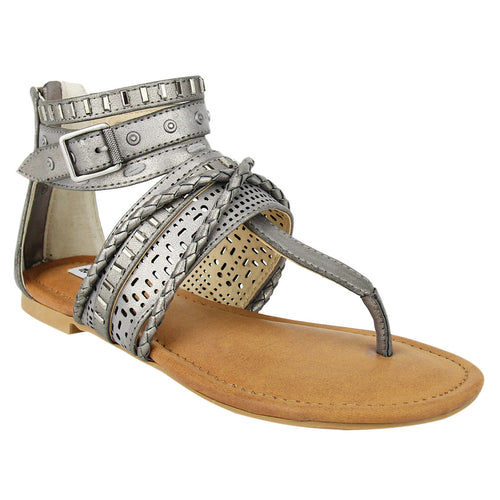 Not_Rated_sandal_flat_grey_ankle_strap_women's_Xandra_thong_upper_embellished