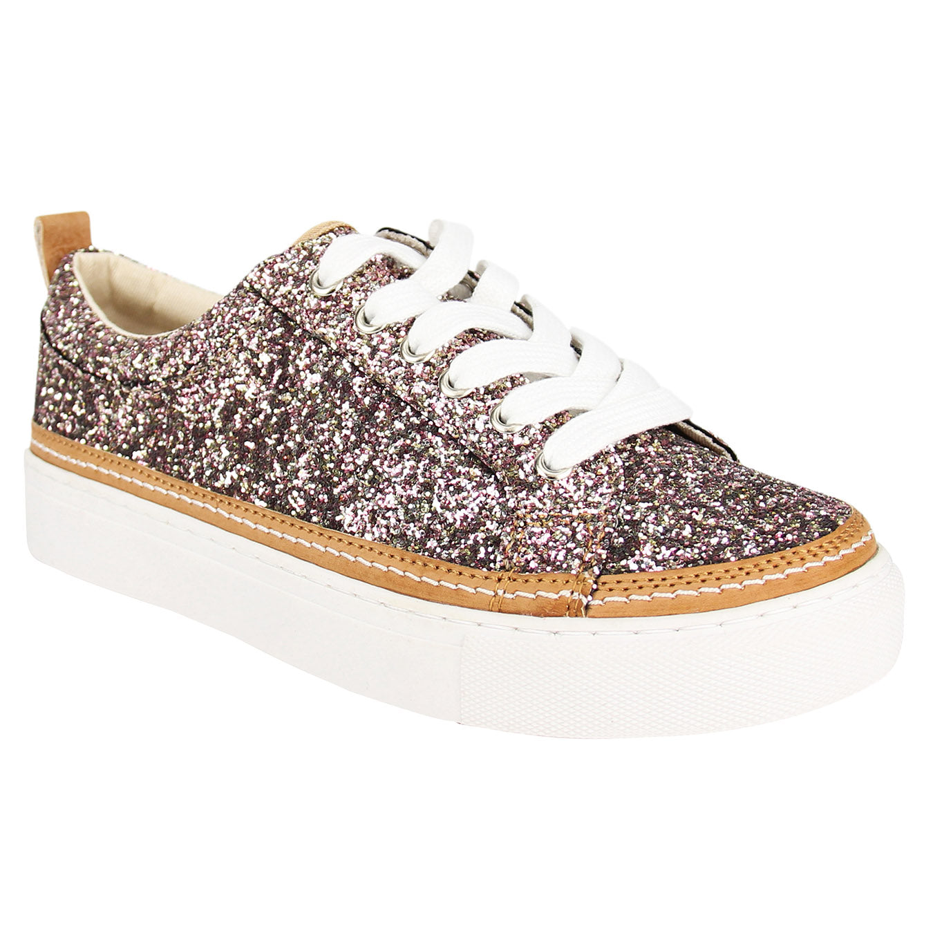 Not_Rated_women's_sneaker_glitter_sparkle_Chestnut