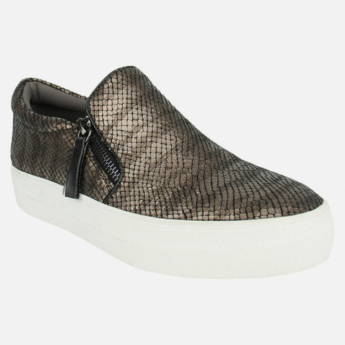 Not_Rated_women's_sneaker_reptile-print_dual zipper_bronze