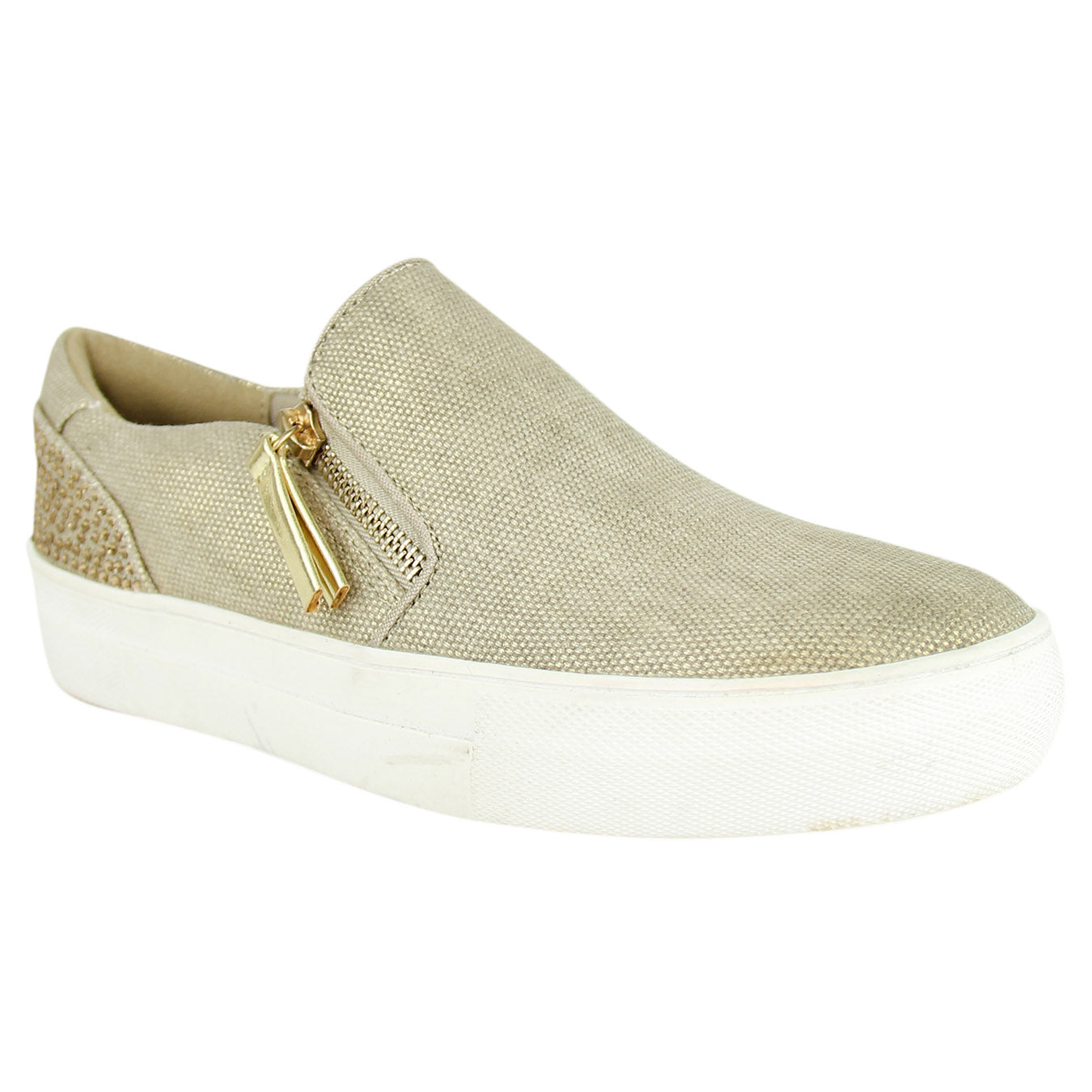 not_rated_leisure_women_shoe_gold_shimmer_canvas_light-weigh_fashion