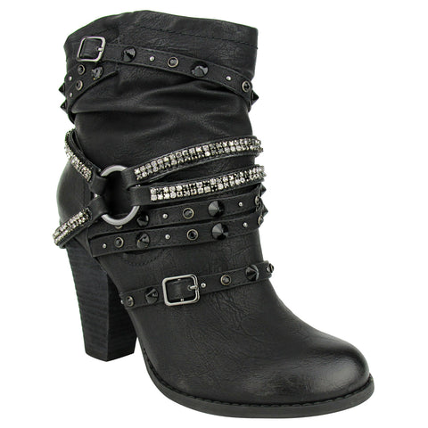 Veronica - Black - Bootie