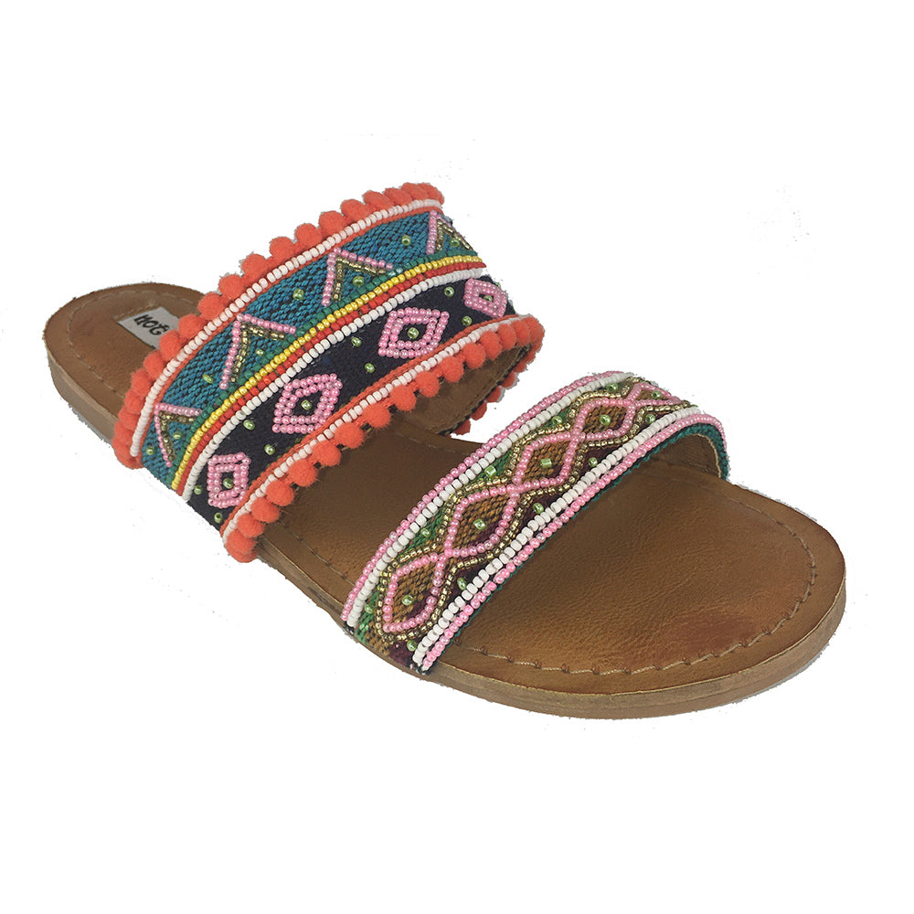 not_rated_spira_flat_sandal_straps_multi_color_beads_women