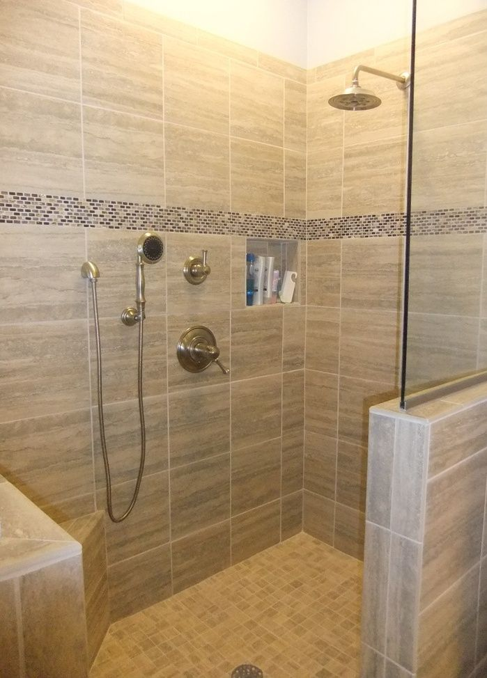 doorless walk-in shower ideas