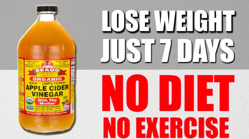How To Use Apple Cider Vinegar To Lose Weight In 1 Week