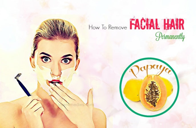how to remove facial hair permanently with honey