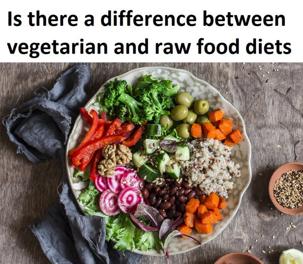 Is there a difference between vegetarian and raw food diets,raw vegan,raw vegan vs vegan,vegan vs vegetarian,difference between vegan and vegetarian,is raw vegan healthy,difference between vegan and raw vegan,raw food diet weight loss,vegan diet