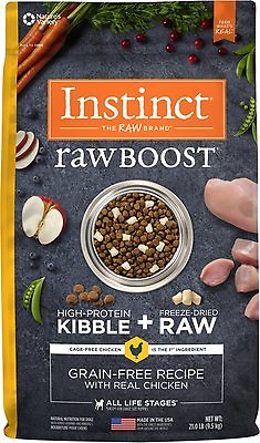 Instinct Raw Boost Grain-Free Recipe with Real Chicken & Freeze-Dried Raw Pieces Dry Dog Food