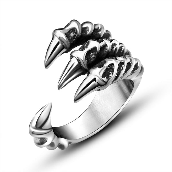 Gothic Dragon Claw Ring - kulman