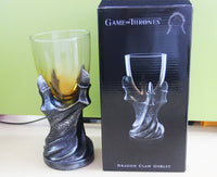 Game of Thrones Gothic Dragon Claw Glass Holder Wine Goblet Replica Cup Decor Beer Cup Halloween Ornament Mug Cosplay Props
