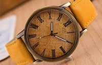 Men watches – Retro leather analog