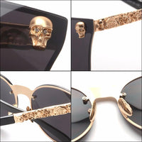 ANTIQUE FRAME CAT EYES SKULL SUNGLASSES - kulman