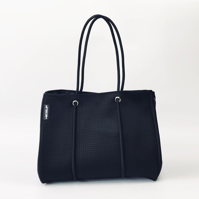 Neoprene Black Tote Bag
