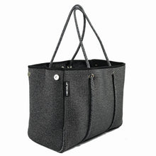 Neoprene Dark Marle Grey Dual Finish Perforated & Non Perforated Tote