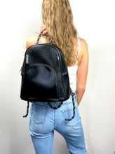 Neoprene Metallic Black Back Pack