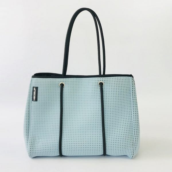 Neoprene Sky Blue Tote Bag