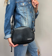 Neoprene Shoulder Bag Metallic Black